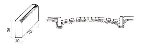 cordón para vereda chica de hormigón para pavimento intertrabado